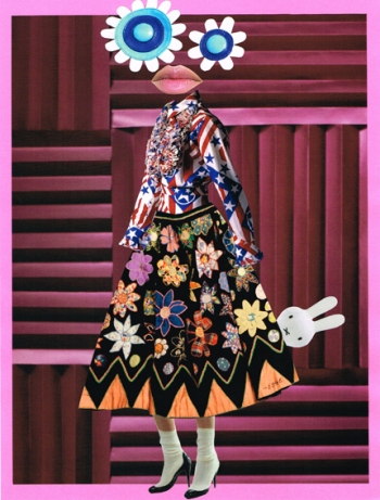 Antoniacollages in the book 'Mode, de Musical' (Fashion, The musical.) by Piet Paris. For the exhibition Centraal Museum Utrecht, 2014