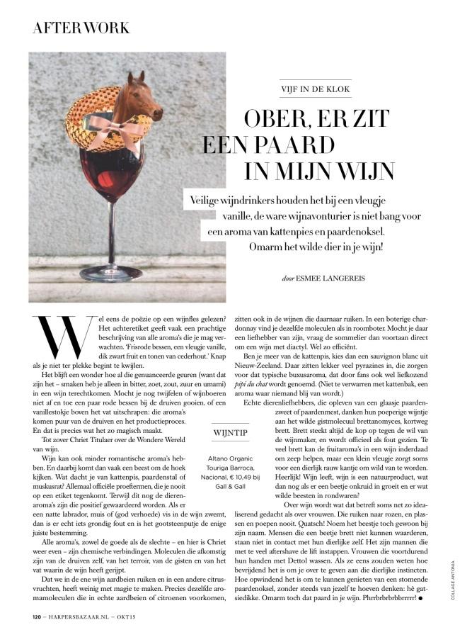 Harper's Bazaar month. column 10.15