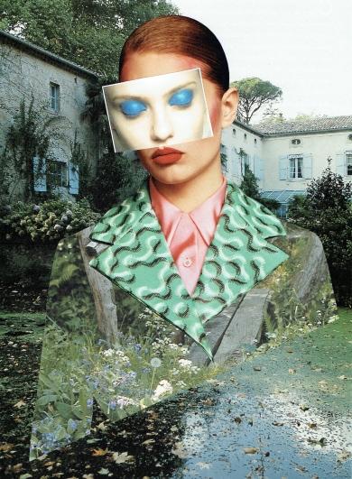 Portrait in garden (2015),40x30cm