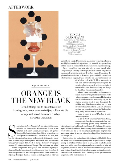 Harper's Bazaar NL month. column 07/08.16