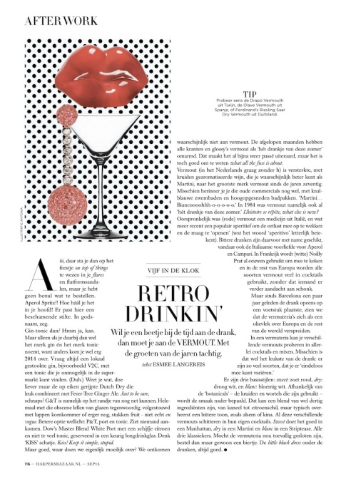 Harper's Bazaar monthly column 9.16