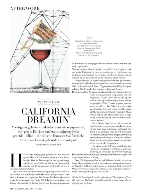 Harper's Bazaar month. column After Work 10.16