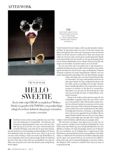 Harper's Bazaar monthly column 12.16